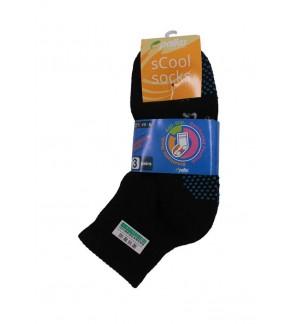 Pallas Anti-Slip Quarter Socks PI82/83/84-007 Black