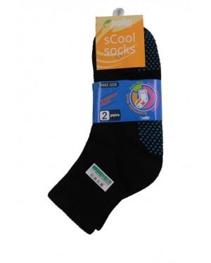 Pallas Anti-Slip Quarter Socks PI85-007 Black