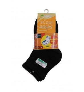 Pallas Economy Quarter Socks PI82/83/84/85-008 Black