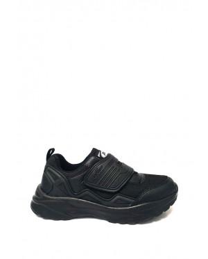 Pallas School Shoe Jazz Single Velcro Strap 205-0201 Black