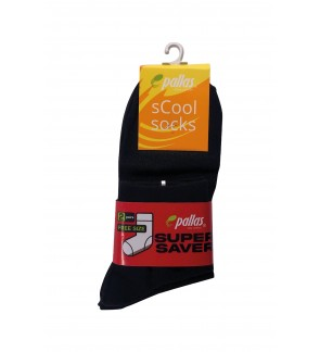 Pallas Quarter Socks PI83/84/85-009 Black