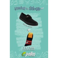 Pallas School Shoe Jazz Single Velcro Strap 204-031 Combo