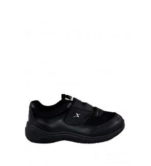 Pallas X Series School Shoe Single Velcro Strap PX25-013 Black