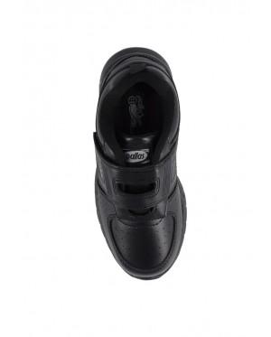 Pallas School Shoes Jazz Single Velcro Strap 205-1185 Black