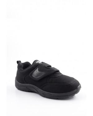 Pallas School Shoe Jazz Single Velcro Strap 202-0165 Black