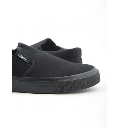 Pallas School Shoe Jazz Slip On 407-0112 All Black