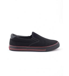 Pallas School Shoe Jazz Slip On 205-0171 Black