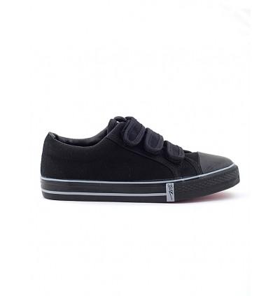 Pallas School Shoe Jazz Three Velcro Straps 205-0166