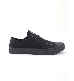 Pallas School Shoe Jazz Star Lo Cut Shoe Lace 407-196 All Black