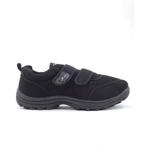 Pallas School Shoe Jazz Double Velcro Straps 306-0182 Black