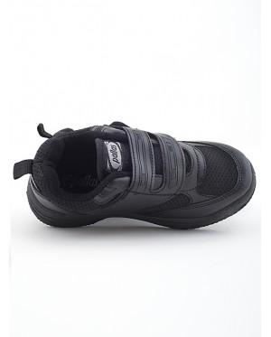 Pallas School Shoe Jazz Single Velcro Strap 205-0181 Black