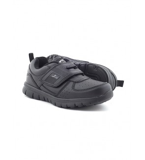 Pallas School Shoe Jazz Single Velcro Strap 205-0185 Black