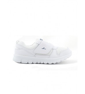 Pallas School Shoe Jazz Single Velcro Strap 205-0186 White