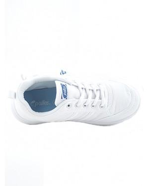 Pallas School Shoe Jazz Lo Cut Shoe Lace 306-0170 Whtie