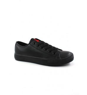 Pallas X Series School Shoe Lo Cut Shoe Lace PX37-012 All Black
