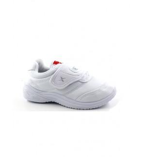 Pallas X Series School Shoe Single Velcro Strap PX25-107 White