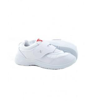 Pallas X Series School Shoe Single Velcro Strap PX25-008 White