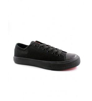Pallas X Series School Shoes Lo Cut Shoes Lace PX37-104 All Black
