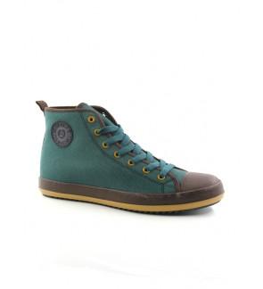 Pallas Jazz Star Hi Cut Shoes Lace JS07-0153 Dark Green