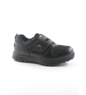 Pallas School Shoes Jazz Single Velcro Strap 205-0186 Black