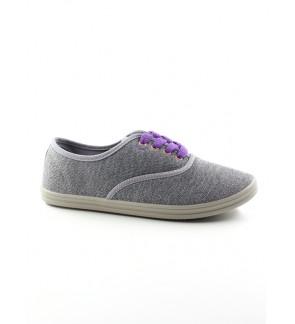 Pallas Jazz Star Low Cut Shoes Lace 406-0116 Grey