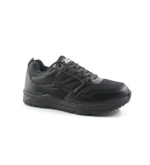 Pallas School Shoes Jazz Lo Cut Shoes Lace 306-0194 Black