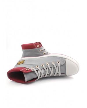 Pallas Jazz Star Hi Cut Shoes Lace JS07-0156 Grey
