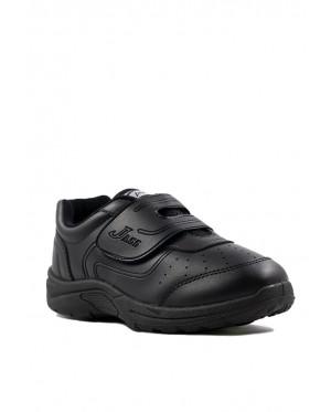 Pallas School Shoes Jazz Single Velcro Strap 205-0195 Black