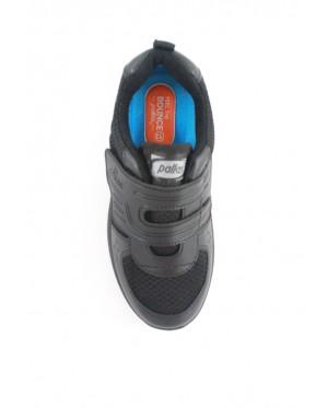 Pallas School Shoes Jazz Single Velcro Strap 205-0196 Black