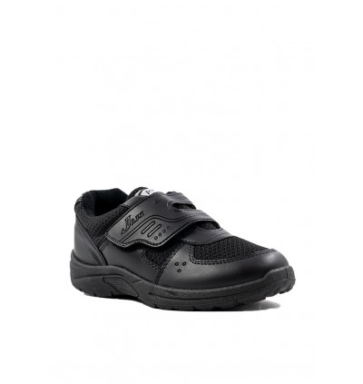 Pallas School Shoe Jazz Single Velcro Strap 205-0196 Black