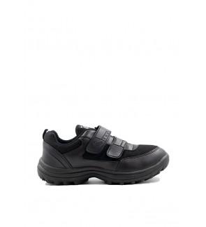 Pallas School Shoes Jazz Double Velcro Straps 306-0199 Black