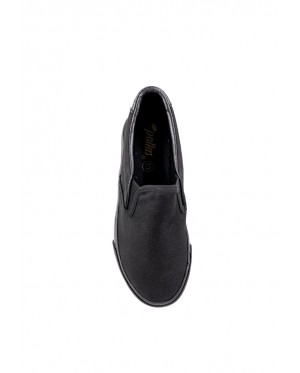 Pallas School Shoes Jazz Slip On 205-0197 Black